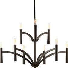 progress lighting dr collection 9 light antique bronze chandelier