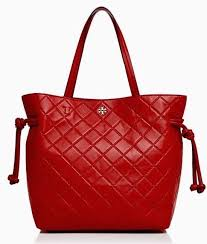 Tory Burch Georgia Slouchy Quilted Leather Tote Liberty Red | eBay & Picture 1 of 5 ... Adamdwight.com