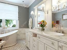 bathroom classic design. Bright Bathroom Classic Design. 3d Render Stock Photo - 47271751 Design R