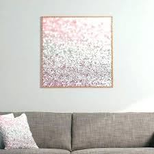 glitter canvas wall art diy decor best of dots on would girly pink snowfall framed decorations