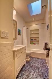 subway tile in the shower and then halfway around the wall