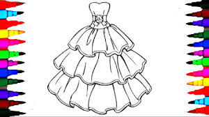 Barbie Glamour Dress 2 Best Learning Coloring Book L Page For