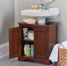 weatherby bathroom pedestal sink storage cabinet walnut com