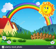 Flower Plant Rainbow Country Landscape Scenery Countryside Nature