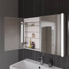 800mmx600mm Bloom Illuminated LED Mirror Cabinet with Shaver