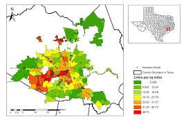 Houston Police Department Organizational Chart Map Of Houston Hotels And Crime Density Data Source Houston