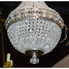 petite french crystal basket chandelier petite french crystal basket chandelier
