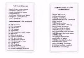 By using ipa you can know exactly how to pronounce a certain word in english. Radio 10 Call Penal Code Codes Reference Card Sheriff Police Marshal Ebay