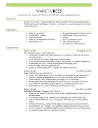 Delivery Driver Resume Creative Delivery Driver Resume Sample Driver Resumes 55