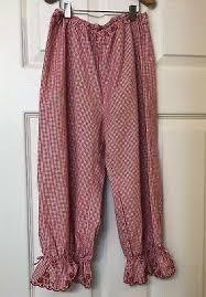 Jacadi Paris Girls Gingham Red Capri Pants Euc Size 10a