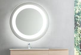 led mirror makeup round led lighted bathroom makeup mirror with defogger touch switch wall mounted lighted