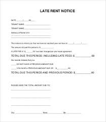 Late Notice For Rent Letter 9 Sample Late Rent Notice Templates Pdf Google Docs Ms