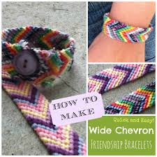 diy how to make quick and easy wide chevron friendship bracelets