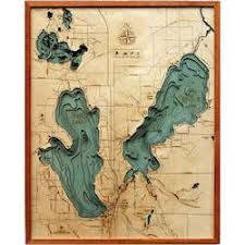 Wood Chart Burt Mullet Lakes