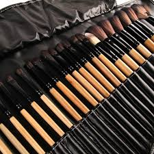 32pcs print logo makeup brushes professional cosmetic make up brush set