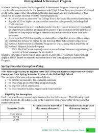 Montgomery County Semester Grade Chart Lake Dallas High School Planning And Course Description