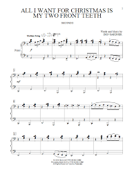 all i want for christmas is my two front teeth sheet music all i want for christmas is my two front teeth sheet music direct