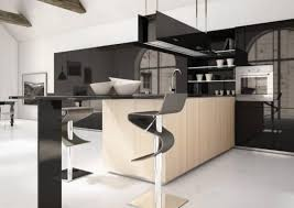 Slicked Black Modern Kitchen Design