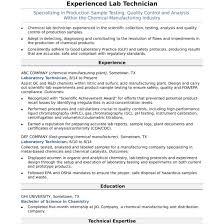 Laboratory Technician Resume Sample Midlevel Lab Technician Resume Sample Monster Com And Laboratory 51