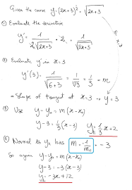 how do you find an equation of the tangent line in slope y intercept form formula