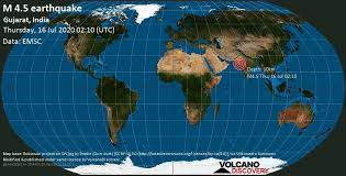 Recent earthquakes near rādhanpur, gujarat, india. Quake Info Moderate Mag 4 5 Earthquake 17 Km Southeast Of Rajkot Gujarat India On Thursday 16 July 2020 At 02 10 Gmt 49 User Experience Reports Volcanodiscovery