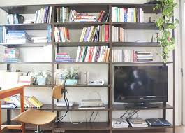 Fancy home office Masculine Fabulous Home Office Design With Open Book Storage At Tel Aviv Apartment Stepinit Interior Architecture Designs Fabulous Home Office Design With