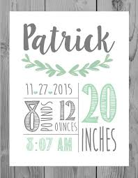 birth announcement print by emmamaedesigns on etsy on etsy personalized baby wall art with birth announcement wall art decor baby boy gift personalized baby