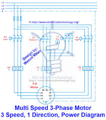 multi speed phase motor speeds direction power control 3 phase motor 3 spped 1 direction power diagram
