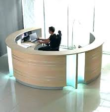 circular office desks. Half Circle Desk Circular Office Desks Reception  Full Image For . Round