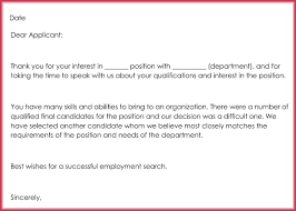 reject letter template job rejection email template standard job rejection letter sample