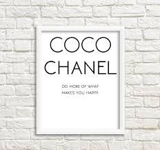 fashion canvas art coco chanel print