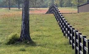 brown vinyl horse fence. Tuff Stuff - 3 Rail Horse Fence: Avinylfence.com. \u2039 Brown Vinyl Fence