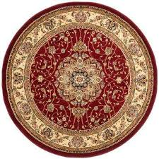 lyndhurst red ivory 8 ft x 8 ft round area rug