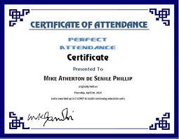 Certificate Of Attendance Templates Certificate Of Attendance