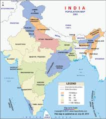 Population Chart Of Indian States State Wise Population Map Of India