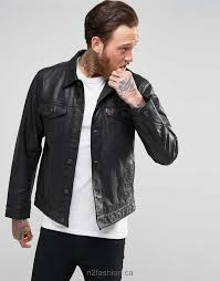 levis black buffalo leather trucker jacket men black buffalo leathe popular new style jackets