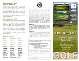 Golf Tournament Brochure DBIA Golf Tournament NoCal DesignBuild Institute of America 1