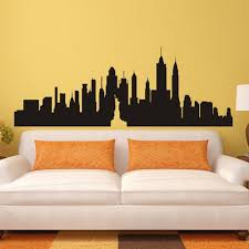 new york city skyline silhouette the big apple wall sticker nyc
