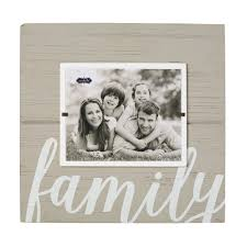 family gray painted distressed picture frame
