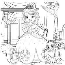 Small Picture Sofia the First Coloring Page Disney Family