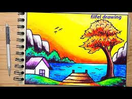 easy drawing beautiful scenery