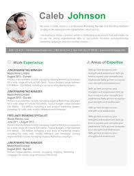 Marketing Resume Templates Word The Caleb Resume 5