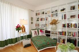 Built in bookcase designs living room contemporary with chaise