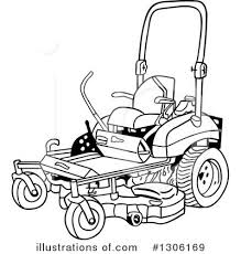 lawn mower clipart black and white. royalty-free (rf) lawn mower clipart illustration #1306169 by lafftoon black and white r