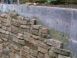 Seating Wall Blocks How To Cover A Stone Wall How Tos Diy