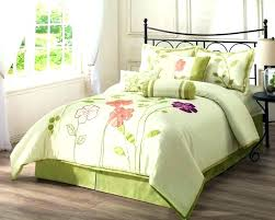 black and green comforter purple sets fl set bedding white with lime