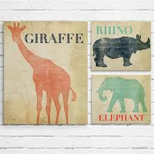 set of 3 safari animal nursery wall art project cottage within recent safari animal wall art on jungle animal wall art with showing gallery of safari animal wall art view 4 of 20 photos