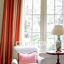 red and beige beautiful designer classic striped curtains