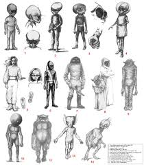 Alien Chart Types Of Aliens Reported Earthly Mission