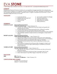 Cover Letter Job Description For A Financial Advisor Job